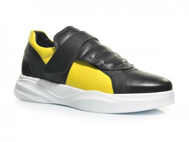 Кроссовки 20-507 черно-желтый