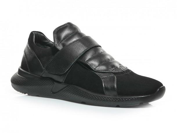 Кроссовки 20-508 замш черный