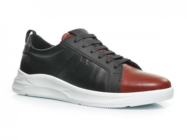 Кроссовки 20-518 черно-красный