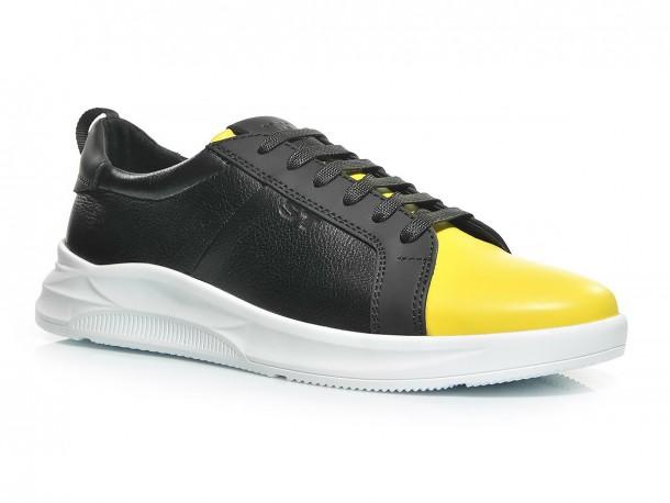 Кроссовки 20-518 черно-желтый