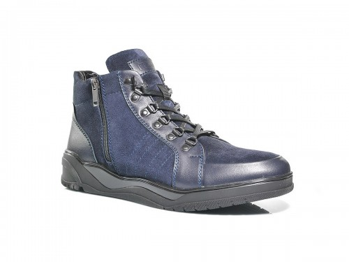 Ботинки SLAT 19-410 синий замш