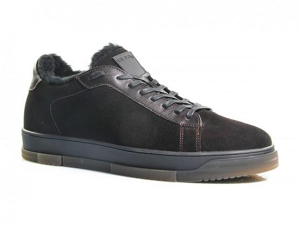 SLAT кроссовки 20-570 коричневый замш мех